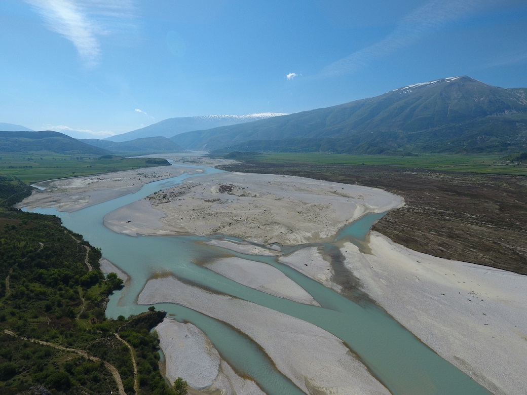 The Vjosa in Albania is the last big wild river of Europe, outside Russia. Until now, this river is scientifically unexplored. Nevertheless, the construction of a dam is in the pipeline. © Gregor Šubic