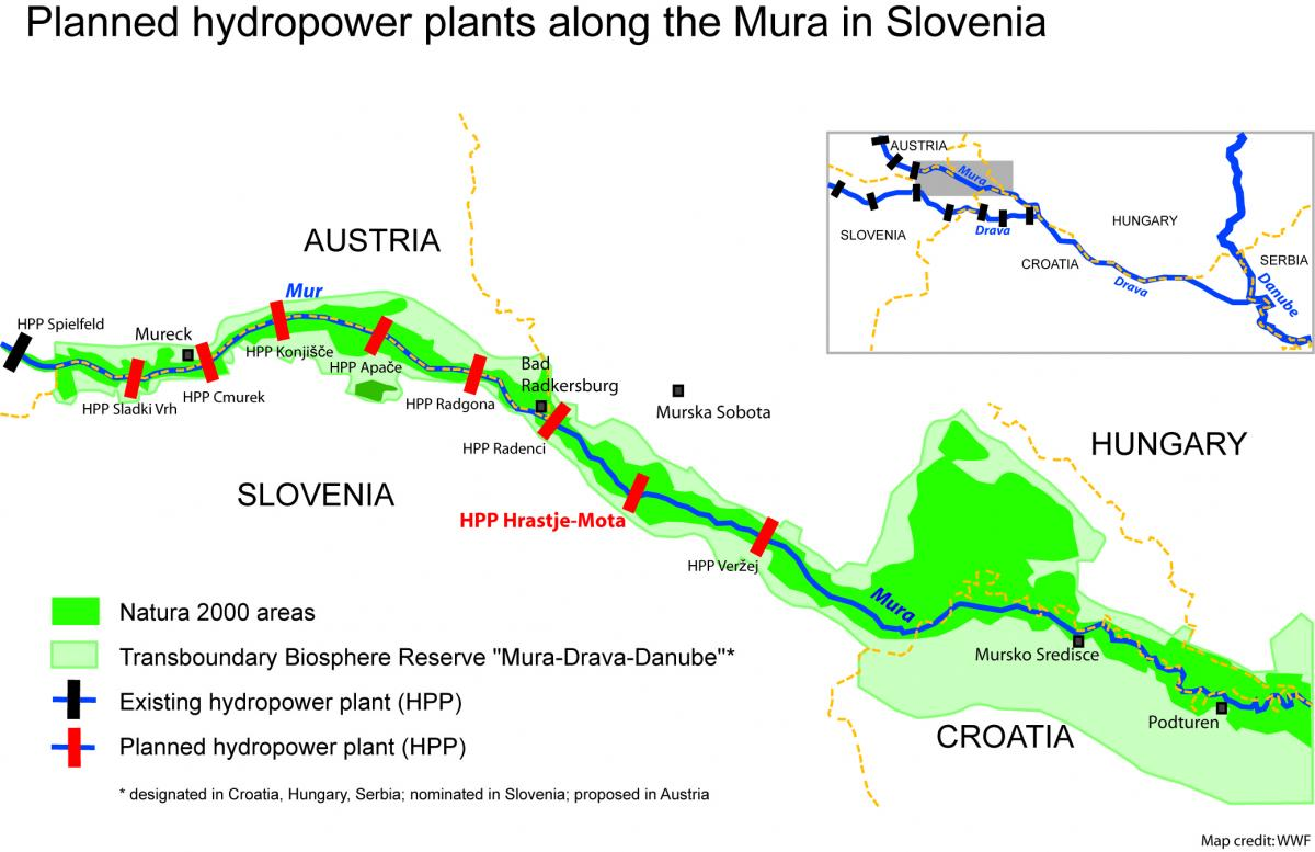 Petition Save The Mura Stop Dams Blue Heart Of Europe Hydro Power Plant Line Diagram Planned Hydropower Plants Along Wwf