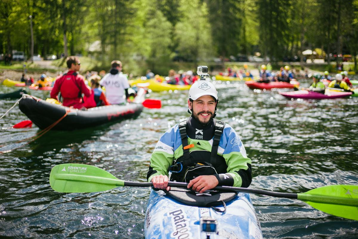 3.	Former Olympic athlete Rok Rozman, leader of the Balkan Rivers Tour © Jan Pirnat
