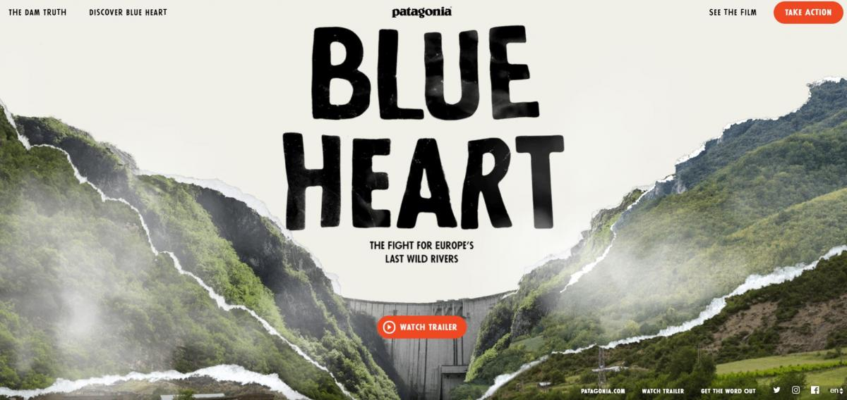 Patagonia launches a new platform in save the Blue Heart.