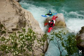 Day 24 – Valbona: rapids like this one go on for 15 kilometers – a true kayaking paradise!