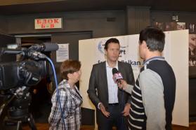 Gabriel Schwaderer, Geschäftsführer von EuroNatur, gibt ein Interview.