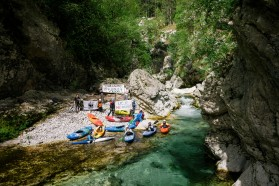 DAY 4 - Protest Učja River - one of the most intact tributaries of the Soča. Also threatened by projected hydropower plants.