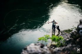 Day 15 - Some evening fly-fishing after paddling