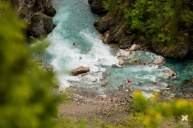 Day 16 – Tara river in Montenegro: rapids like this one are common in the upper canyon. Remote, beautiful and technical - a true kayakers' paradise.
