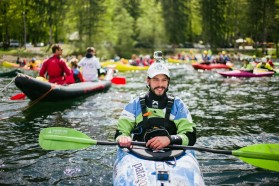 DAY 1 - Former Olympic athlete Rok Rozman, leader of the Balkan Rivers Tour