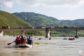 Tag 33: Am Weg zur Pocem Brücke - der Standort für einen weiteren geplanten Staudamm, für den der Primier erst kürzlich die Konzession an ein türkisches Bauunternehmen vergeben hat.