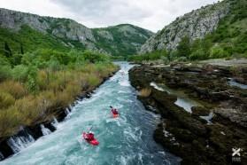 Tag 12 - Bunakanal-Stromschnelle kurz vor ihrem Zusammenfluss mit der Neretva, Bosnien