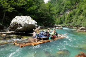 One can even discover the Tara Canyon on wooden rafts (http://www.splavarenje.ba/).