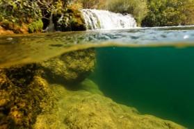 Feuchtgebiete entstehen, da der Fluss langsam fließende, Teich-ähnliche Wasserkörper bildet.
