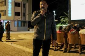 Olsi Nika (EcoAlbania - local campaign partner in Albania) introducing the film in Permet