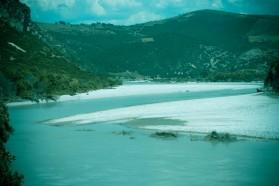 Extensive braided river section near Qesarat village.
