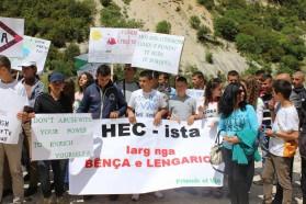 SchülerInnen aus Selenica nahmen auch am Protest teil.