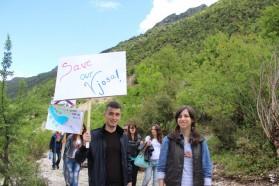 StudentInnen vom Institut für Biologie an der Universität Tirana.