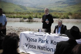 """""""The Vjosa is of  incredible importance for the biodiversity, especially for the fish, molluscs and other species"""", Spase Shumka, one of Albania's leading scientists and biodiversity expert (PPNEA), confirms."""