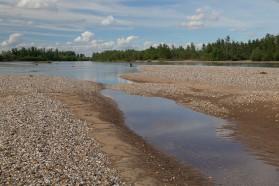 Die Drina. 12 mittlere und große Staudammpojekte sind an der Drina geplant.