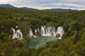 Die Kravica-Wasserfälle in Bosnien&Herzegowina, gespeist vom Fluss Trebižat, ein Nebenfluss der Neretva.