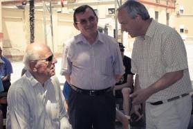 Professoren der Tirana Universität. V.l.n.r.: Prof. Leonard Topuzi, Prof. Aleko Miho, Prof. Besnik Baraj
