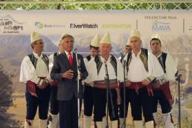 Berühmter Sänger Golig Jaupi und seine traditionelle iso-polyphonisch Gesangsgruppe aus Bënça