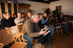 Reges Medieninteresse:  BBC, Deutsche Welle, Aljazeera, Slo TV, Delo und weiter Printmedien waren anwesend.
