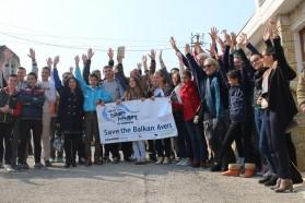 Ca. 80 Personen kaman  zu unserer letzten Vjosa Tour Veranstaltung am 13. März 2015 in Selenica.