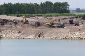 Brezice Dam construction site.