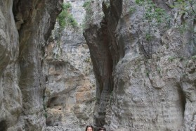 Despina Kitanova (MES) and Dime Melovski (MES) in a side canyon of the Vjosa on the hunt for butterflies and dragonflies..