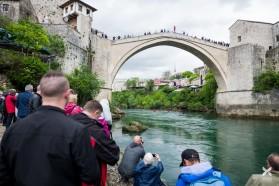 Tag 12: Neretva bei Mostar, Bosnien: die heutige Tour startete bei der berühmten Tari Most (Alte Brücke)