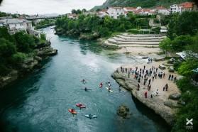 Tag 12 - Mostar an der Neretva, Bosnien. Aussicht von der Tari Most Brücke