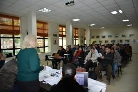 Ca. 75 Personen nahmen an der öffentlichen Diskussionsrunde in Përmet Mitte Dezember teil.