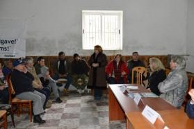 """Arta Dade, Mitglied des albanischen Parlaments und Teilnehmerin der Veranstaltung in Çarshovë sagt: """"Ich unterstütze die Idee eines Nationalparks ebenfalls und werde die Parlamentarier in Tirana darüber informieren. Ich hoffe sehr, dass wir diesen wunderschönen Fluss bewahren können."""""""