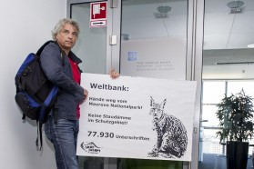 """""""Wie glaubwürdig sind die Umweltstandards der Weltbank, wenn Kraftwerke in Nationalparks unterstützt und die letzten Balkanluchse damit ausgerottet werden? Frau Direktor Goldstein, stoppen Sie die Finanzierung!"""" fordert Ulrich Eichelmann von Riverwatch."""