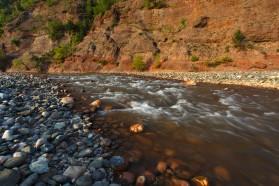 Fluss Shkumbin in Albanien.
